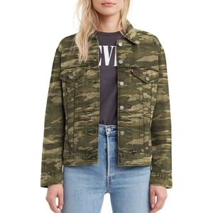 NEW Levi's Camo Denim Jacket Sz Small